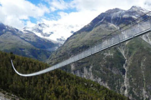 Longest Foot Bridge In Switzerland by Joymalya Haldar